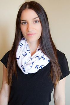 NEW PRINT  Infinity Nursing Scarf  Anchor. Full by Medahm on Etsy, $20.00