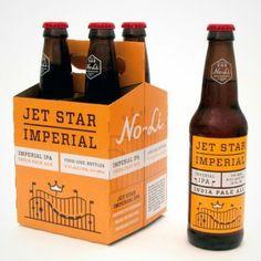 Minimalistic beer label