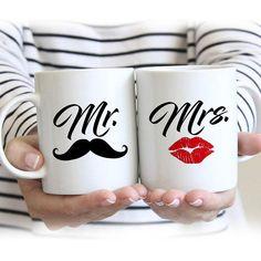 Mr and Mrs Mugs Mr. Coffee Mugs Mr and Mrs Coffee Couples Coffee Mugs, Couple Mugs, Cute Coffee Mugs, Coffee Mug Sets, Mugs Set, Coffee Cups, Mr Mrs, Tassen Design, Cadeau Parents