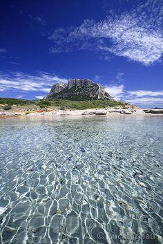 Kissing the sea at Tavolara Island, Sardinia, Italy
