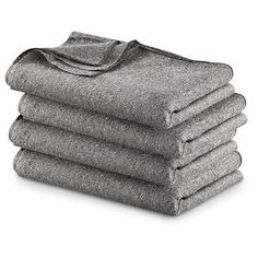 """Wool Blankets....they might be """"itchy"""", but keep you warm! (4 for $34.97)  Idea Mod1: Sew in a sheet to the side you'll have against your body. Works Awesome  Mod2: Sew Zipper on it makes it a sleeping bag"""