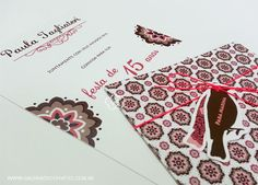Convite debutante estampado - Galeria de Convites