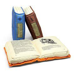 Olde Book Pillow Classics   ThinkGeek