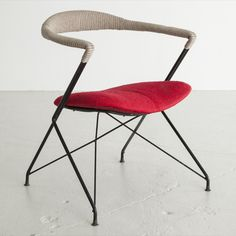 Carlo Hauner and Martin Eisler; Enameled Iron Armchair for Forma, 1950s