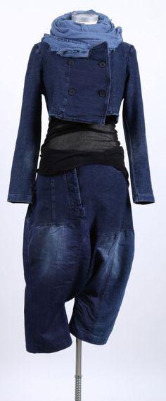 rundholz black label - Jeans Hose Stoff Mix original - Sommer 2015 - stilecht - mode für frauen mit format...