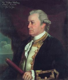 """Sir Walter Stirling of Erskine, Commander in Chief at the Nore by James Northcote National Maritime Museum. 17th Century Fashion, 18th Century Clothing, Velvet Elvis, Royal Navy Officer, Princess Louise, Navy Uniforms, Disco Fashion, Maritime Museum, Historical Art"