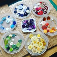 Colourful buttons,bits and pressed flowers, ready to used for new artwork Instagram photo by @crpittdesigns • 33 likes