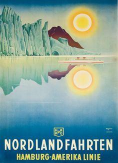 DP Vintage Posters - North Sea Cruis Hamburg America Line Original Travel Poster