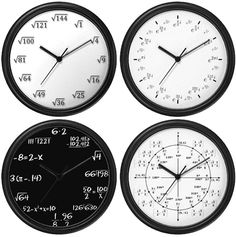If I had one of these math clocks I would never be able to tell what time it is!