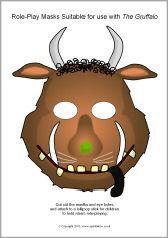 Gruffalo story role-play masks (SB9752) - SparkleBox
