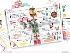 Keep your life organized with some pretty Pink Paislee supplies. @enzamg @pinkpaislee #ppohmyheart #planner #lists