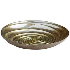 Gold Glittered Spiral Bowl