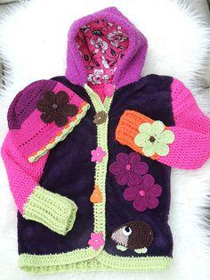 Detské oblečenie - Zmiešaná bundička a čiapka-jesenný ježko - 5926281_