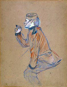 Henri de Toulouse-Lautrec, Soldato inglese che fuma la pipa, 1898. Olio su cartone, 61 x 47 cm. Albi, Musée Toulouse-Lautrec.