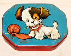 English Daintee Dog Toffee Tin Candy Tin 1940s | eBay