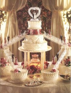 Crystal Fountain Cake Photo: This Photo was uploaded by Tonjha. Find other Crystal Fountain Cake pictures and photos or upload your own with Photobucket. Fountain Cake, Fountain Wedding Cakes, Fruit Wedding Cake, Big Wedding Cakes, Floral Wedding Cakes, Elegant Wedding Cakes, Beautiful Wedding Cakes, Wedding Cake Designs, Wedding Cake Toppers