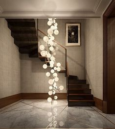 Contemporary Floor to Ceiling Lighting 155 Street Development — Pembrooke & Ives Interior Lighting, Home Lighting, Lighting Design, Bocci Lighting, Stair Lighting, Lighting Ideas, Deco Luminaire, Luminaire Design, Interior Architecture