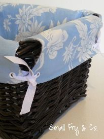 No sew basket liners! Possible future craft...