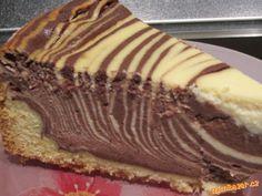 Pruhovaný vynikající tvarožník Biscuits, Dessert Recipes, Desserts, Pie, Cooking Recipes, Baking, Breakfast, Sweet, Homeland