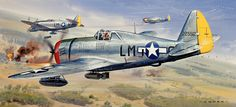 P-47D Thunderbolt by Roy Cross