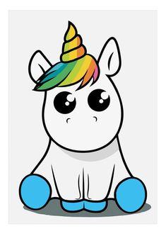kawaii and cute stuff kawaii Unicorn Drawing, Unicorn Art, Cute Unicorn, Rainbow Unicorn, Cartoon Unicorn, Unicorn Horse, Unicorn Makeup, Beautiful Unicorn, Baby Unicorn