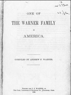Debby's Family Genealogy Blog: Coming to America-Andrew Warner