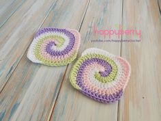 Happy Berry Crochet: How to Crochet a Spiral Granny Square