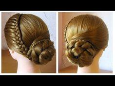 Chignon avec tresse Tuto coiffure cheveux long, facile à faire Elegant bun hairstyle - YouTube