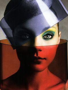 color blocking. Jessica Stam by Michaelangelo di Battista. Vogue Italia 2005