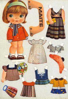 Vintage paper dolls – Miss Dingle Paper Dolls Book, Vintage Paper Dolls, Paper Toys, Paper Crafts, Paper Dolls Printable, Kool Kids, Holly Hobbie, Snoopy, Old Toys