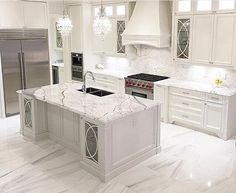 The kitchen that is top-notch white kitchen , modern kitchen , kitchen design ways! Luxury Kitchen Design, Luxury Kitchens, Interior Design Kitchen, Home Kitchens, Dream Kitchens, Kitchen Designs, Best Kitchen Countertops, Farmhouse Kitchen Cabinets, Rustic Kitchen