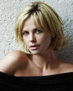Charlize Theron (South African/American) (actor) (face) (front)