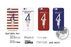 USMNT Bradley 4 Hard Phone Case - Michael Bradley iPhone Case,  Soccer Nexus Phone, galaxy case Donovan Phone Case Usa Phone Case by Graphics17 on Etsy
