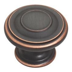 $2.97 1-3/8 in. Harmon Oil Rubbed Bronze Cabinet Hardware Knob