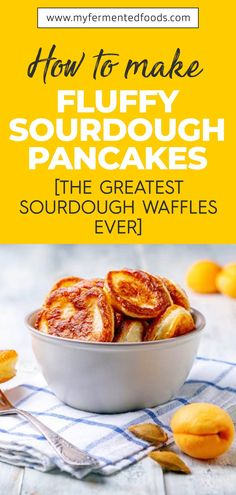 Get your morning started with fluffy sourdough pancakes. Use excess sourdough starter to make delicious breakfast and enjoy it with your favorite toppings and a cup of tea or coffee. Read further to learn how to make Fluffy Sourdough Pancakes or Waffles that would take no time to become a favorite breakfast for you and your family. . . . #MyFermentedFoods #FermentedFoods #FluffySourdoughPancakes #FluffySourdough #Sourdough #SourdoughPancakes #SourdoughWaffles Sourdough Pancakes, Sourdough Recipes, Sourdough Bread, Easy To Make Breakfast, Breakfast Ideas, Brunch Ideas, Fruit Pancakes, Waffles, Easy Healthy Recipes