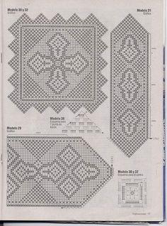 Home Decor Crochet Patterns Part 52 - Beautiful Crochet Patterns and Knitting Patterns Crochet Tablecloth, Crochet Doilies, Crochet Lace, Crochet Borders, Filet Crochet, Knitting Patterns, Crochet Patterns, Beautiful Crochet, Needlework