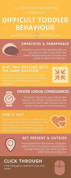 Parenting through difficult toddler behavior...great advice for toddler parents!