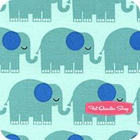 Bungle Jungle Aqua Elephants Yardage SKU# 39502-12
