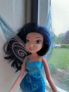 "Silvermist Disney Fairy doll 9""  Tinkerbell Pixie Black Hair VGUC #Disney"