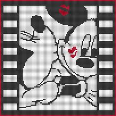 Minnie and Mickey Mouse Perler Bead Pattern