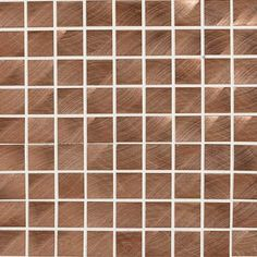 Structure Glass, Metal & Decorative Accents Product Image  Roll over to zoom product Copper 1 x 1 Mosaic ST71