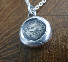 God Feeds the Ravens…. sterling silver Amulet, wax letter seal impression, handmade pendant, crow, r Wax Letter Seal, Wax Seal Stamp, Lucas 12, Charms, Antique Wax, Broken China Jewelry, Ceramic Pendant, Emblem, Porcelain Jewelry