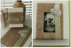 The Savvy Photographer: Packaging Week~ day two ~ burlap wrapped framed Burlap Fabric, Burlap Ribbon, Burlap Baby, Diy Food Gifts, Easy Diy Gifts, Pretty Packaging, Packaging Ideas, Gift Packaging, Burlap Pictures