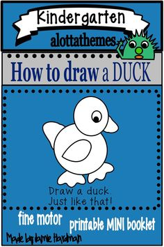 This fun and engaging drawing activity is great for using when teaching the farm unit in the fall or spring for your preschoolers,kindergarten Drawing Activities, Hands On Activities, Duck Drawing, Farm Unit, Directed Drawing, Math Skills, Kindergarten Classroom, Fine Motor Skills, Learn To Draw