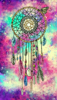 Dreamcatcher galaxy wallpaper I created for the app CocoPPa. Cocoppa Wallpaper, Galaxy Wallpaper, Wallpaper Backgrounds, Iphone 7 Wallpapers, Pretty Wallpapers, Los Dreamcatchers, Dreamcatcher Wallpaper, Dream Catcher Art, Dream Catcher Painting