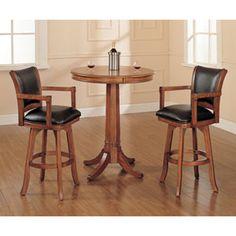 Glass Round Bar Table With Chrome Base Pub Tables Pub Tables & Sets Game Room & Bar Furni