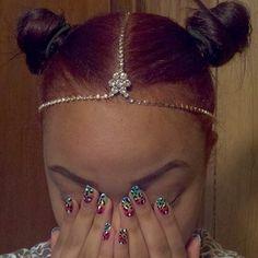Black Girls Colorful Hair