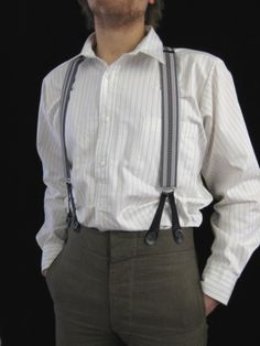 Narrow Ticking Stripe Shirt (SH2122). With Collar or Collarless