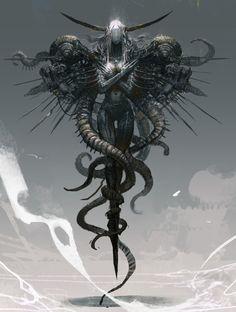 Fantasy art creatures ideas ideas for 2019 Dark Fantasy Art, Fantasy Artwork, Foto Fantasy, Fantasy Kunst, Dark Art, Monster Art, Monster Design, Arte Horror, Horror Art