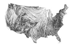 Wind patterns onto US map